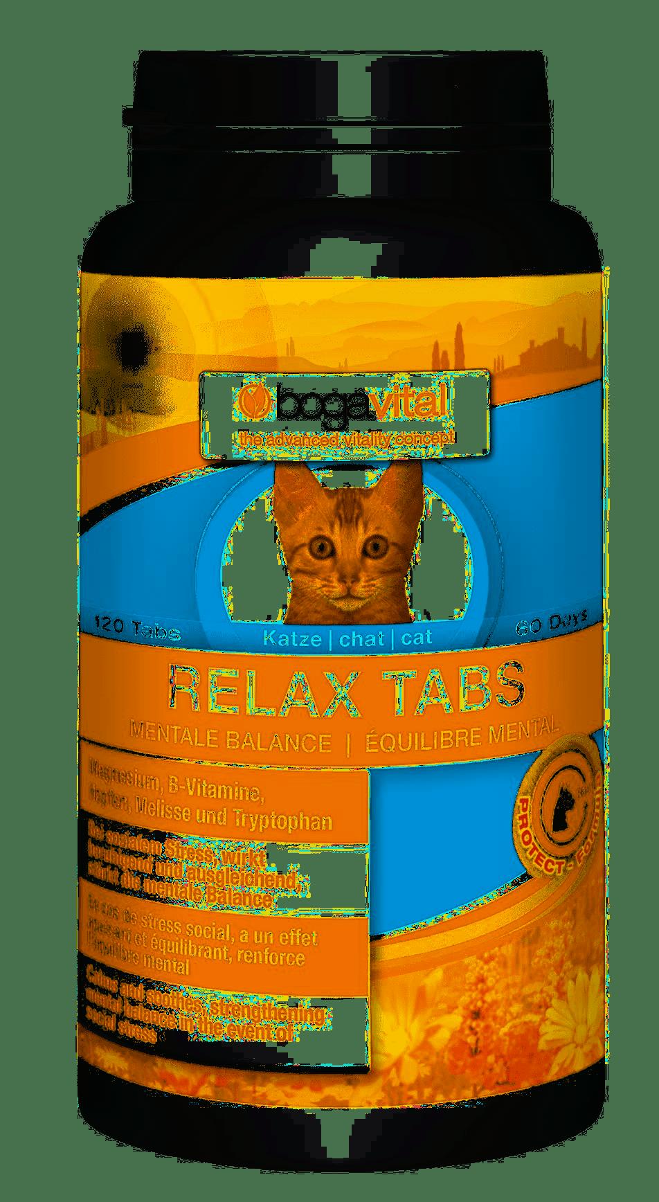 Bogavital Relax Tabs Katze 84g / 120 Tabs