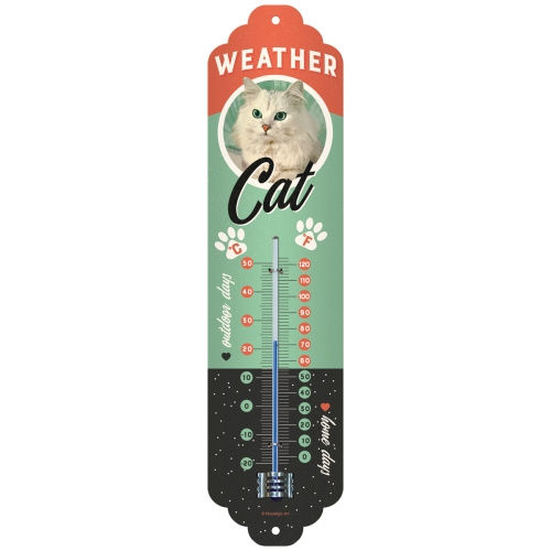 Nostalgic-Art Thermometer Weather Cat
