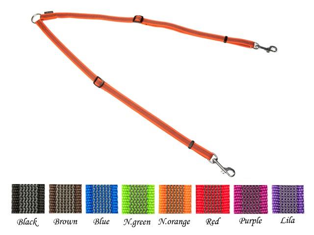 Mystique® Gummiertes Koppel verstellbar, schwarz 50-90cm