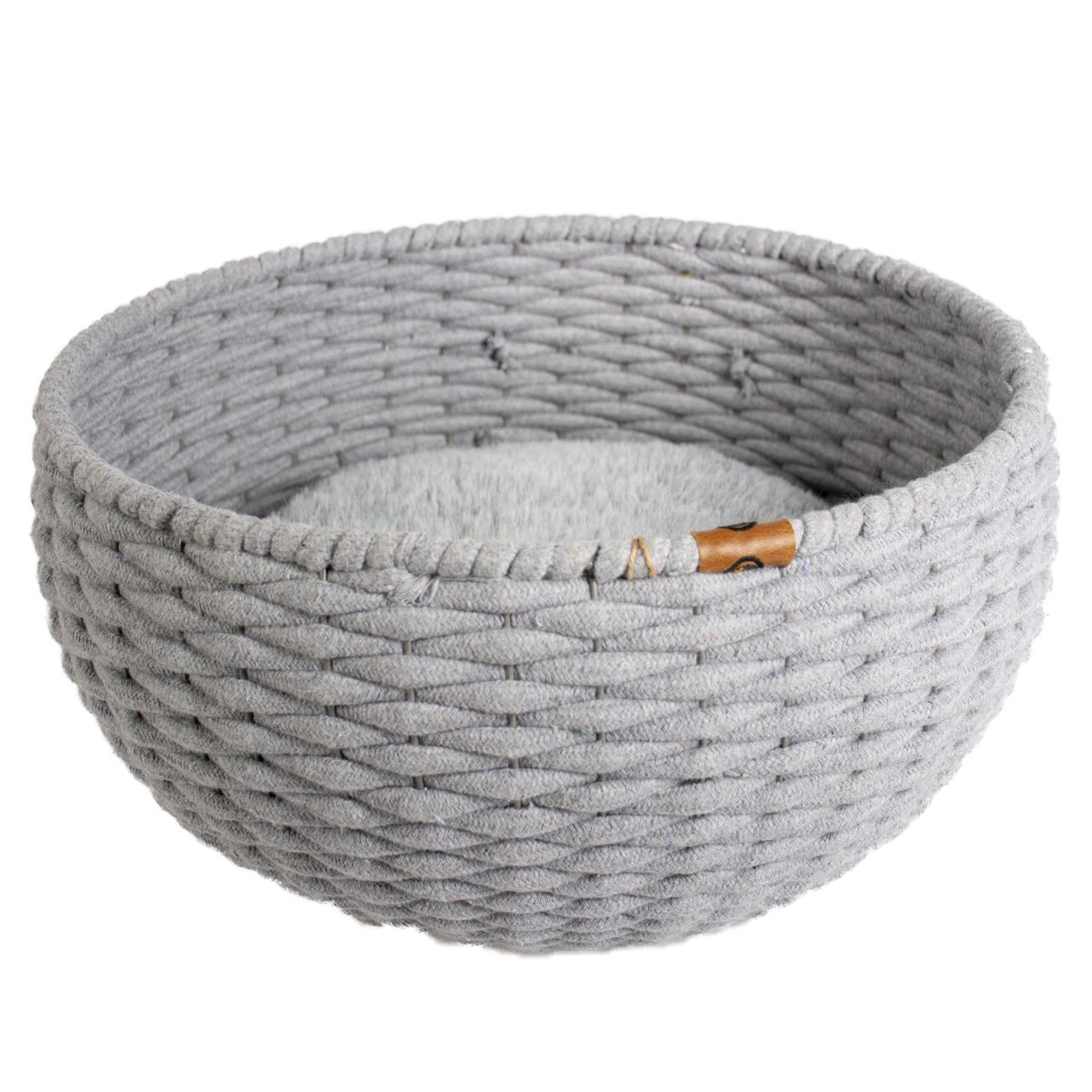 ebi Duvo+ Oyster Basket Round In Cotton Rope 45x45x23cm Grey