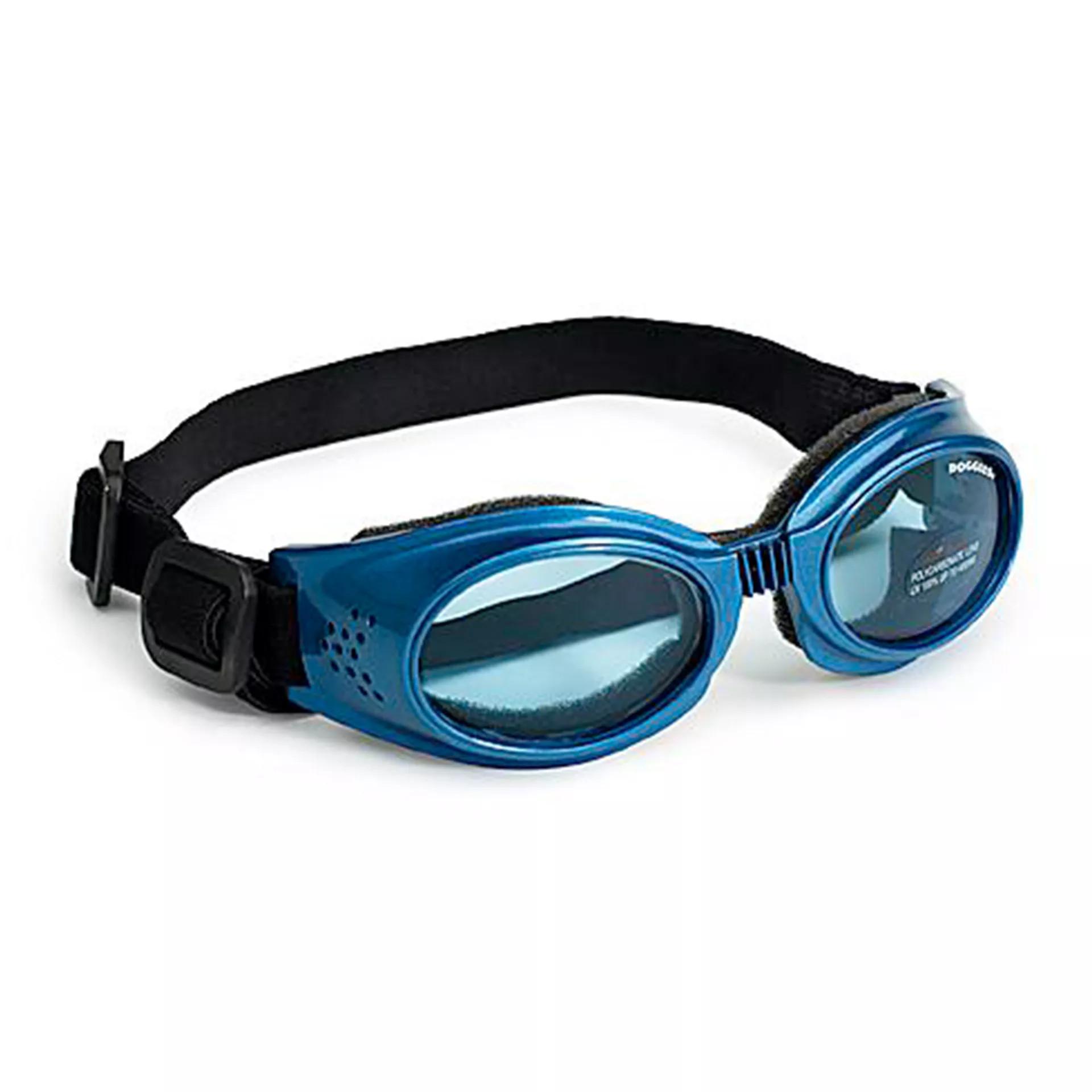 Doggles Orginalz Brille, blau-metallisch