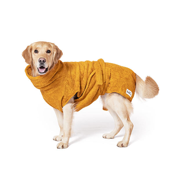 Lill's Hundebademantel aus Bio-Baumwolle