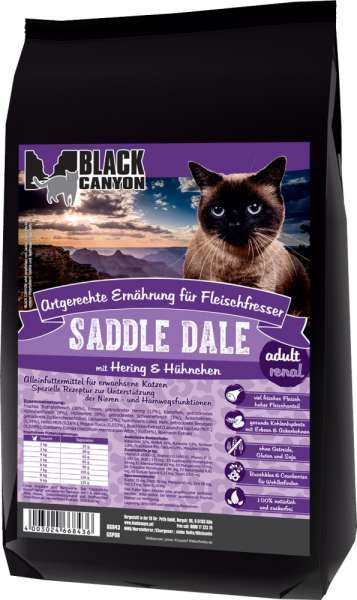 Black Canyon Cat Reneal Saddle Dale mit Hering & Hühnchen