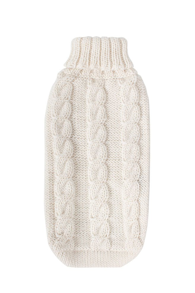 Alqo Wasi Hunde-Pullover Suasi Knit White L
