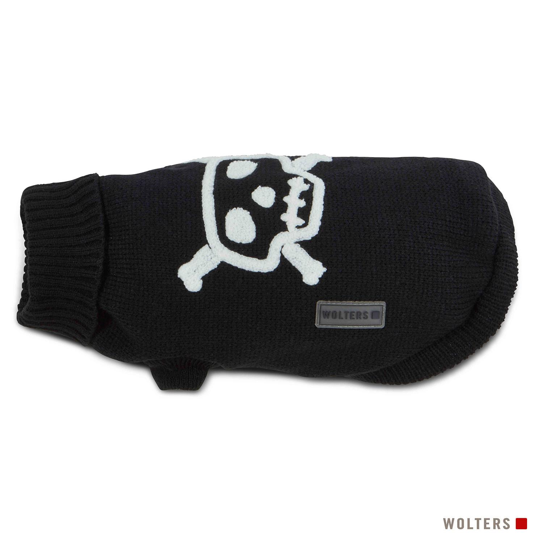Wolters Strickpullover Totenkopf schwarz/weiß