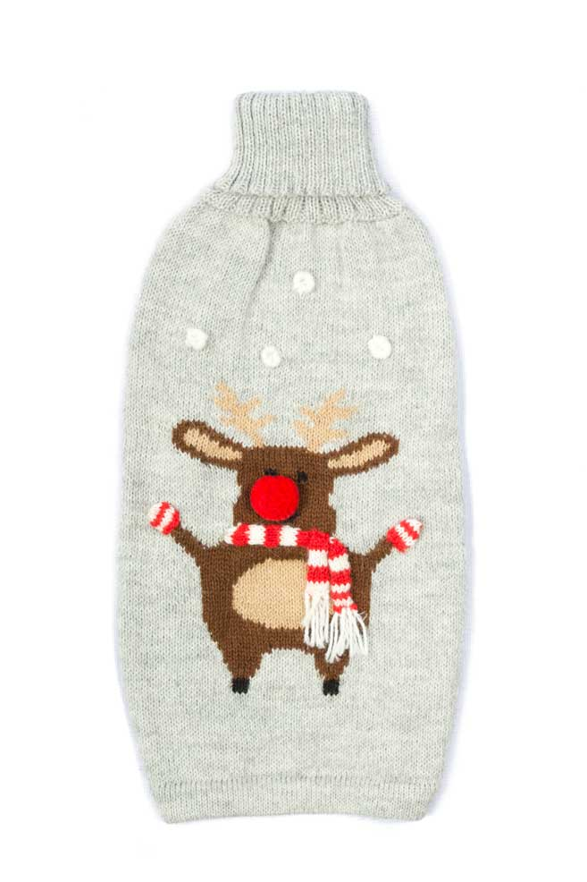 Alqo Wasi Hunde-Pullover Christmas Moose - S