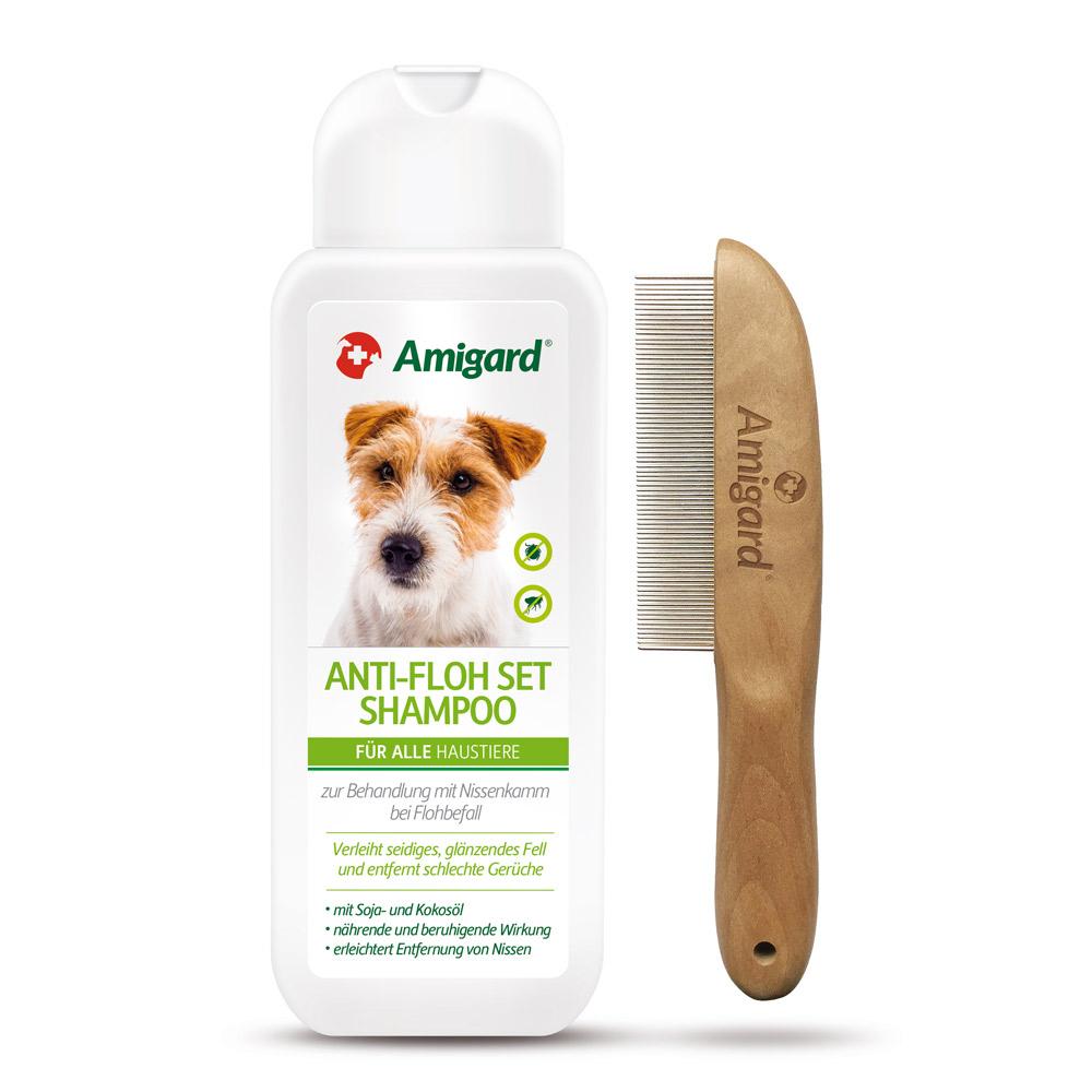 Amigard Anti-Floh Set (Spezialshampoo und Nissenkamm)