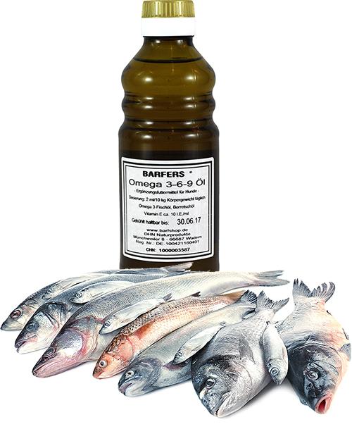 DHN Barfers Omega 3-6-9 Öl 250ml