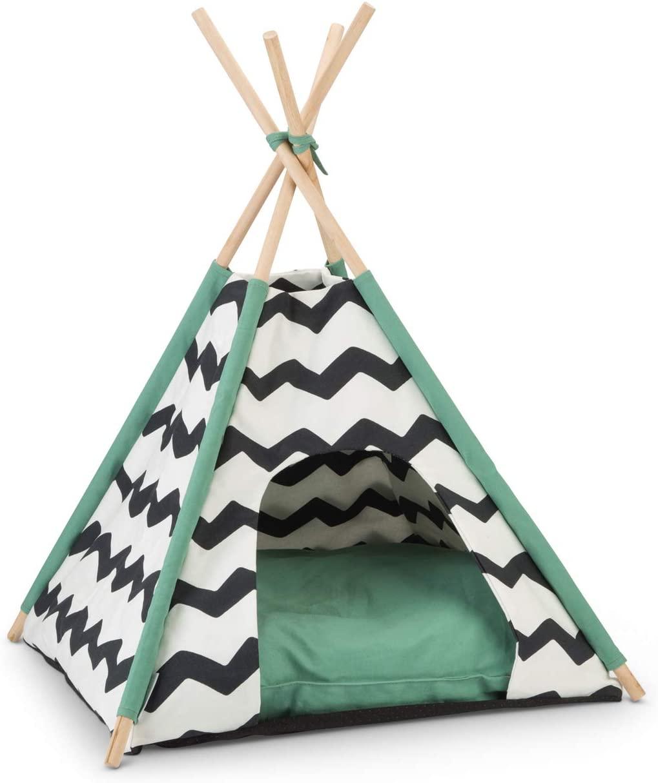 Beeztees Tipi Tent Kioni, Schwarz/Weiss, 50x50x80