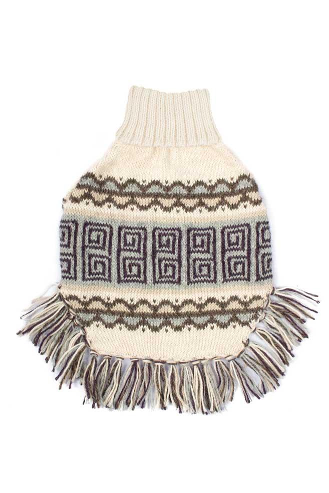 Alqo Wasi Hunde-Pullover Poncho Pisac XS