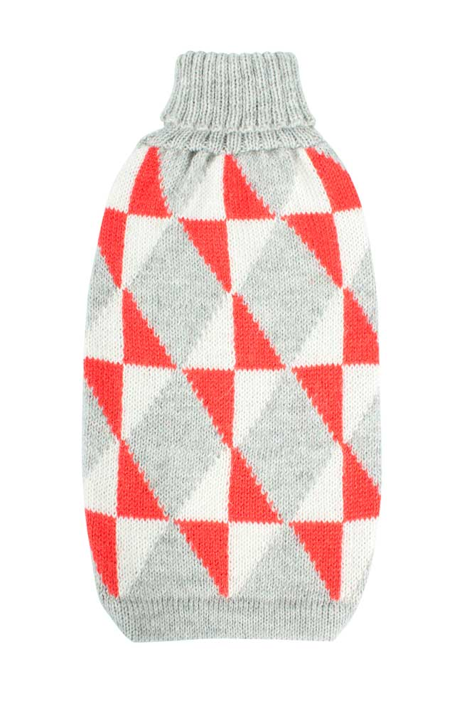 Alqo Wasi Hunde-Pullover Cheerful Argyle