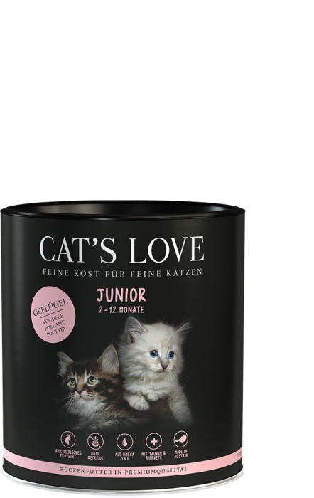Cat's Love Trockenfutter Junior Geflügel