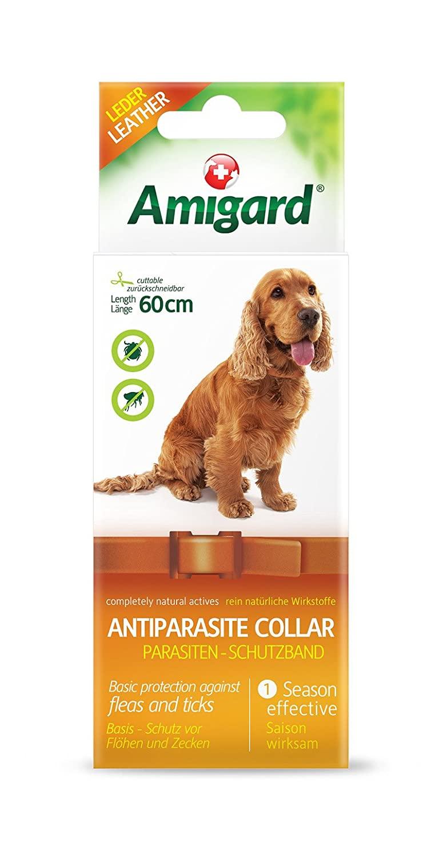 Amigard Parasiten-Schutzband, Hund, 60cm, Leder, braun