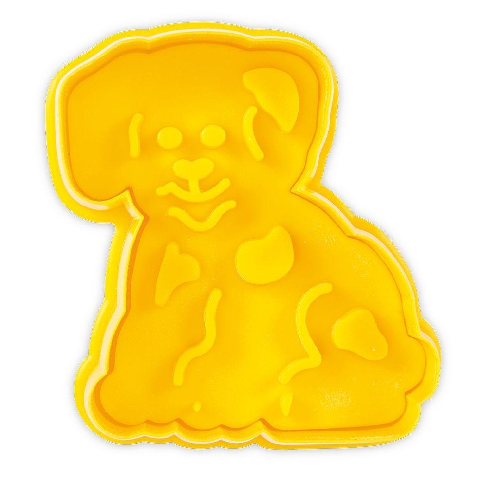 Städter Ausstechform Hund ca. 7cm Gelb
