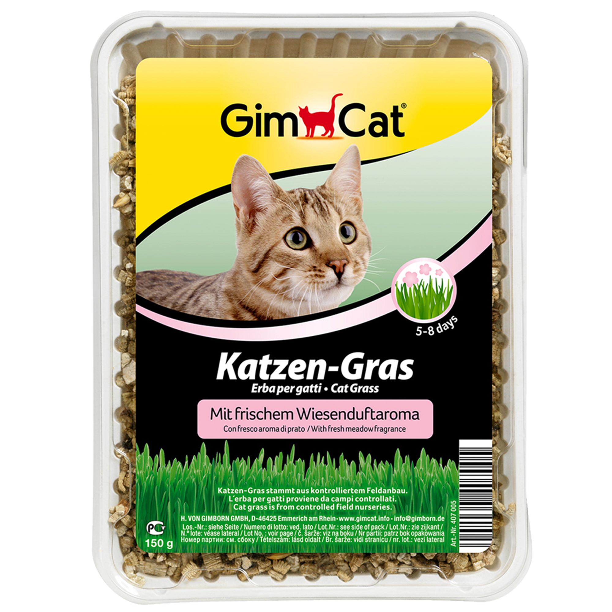 GimCat Katzen-Gras mit Wiesenduft 150g