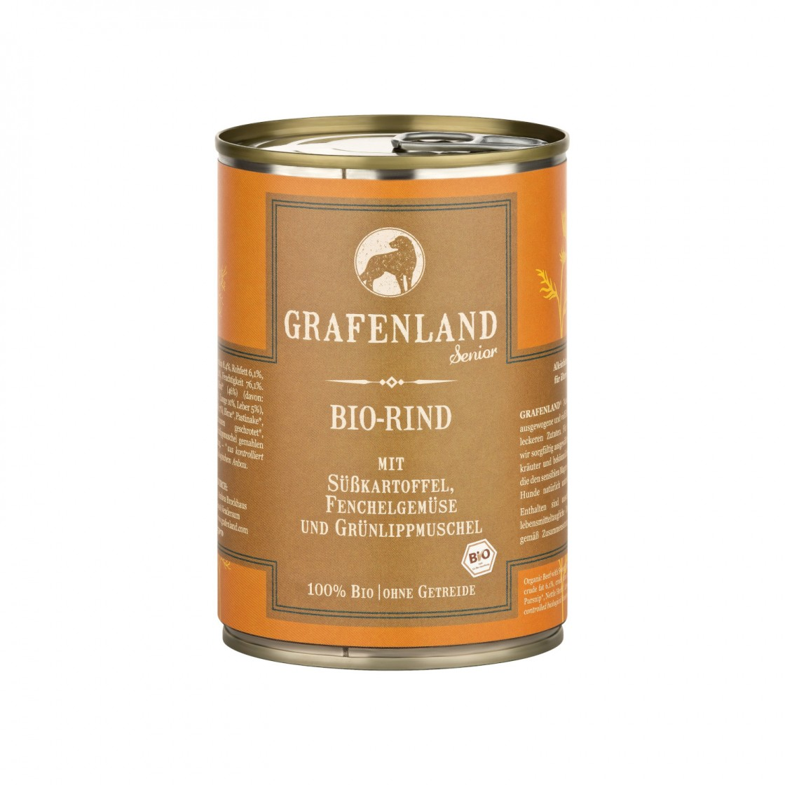 Grafenland SENIOR Bio-Rind mit Süßkartoffel, Fenchel und Birne